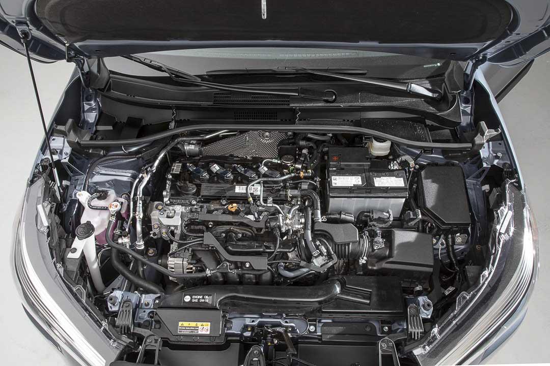 vue sur le moteur du Toyota Corolla Cross 2022